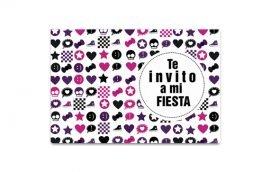 Invitación Emo 1 (15 unidades)