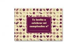 Invitación Rosada (15 unidades)