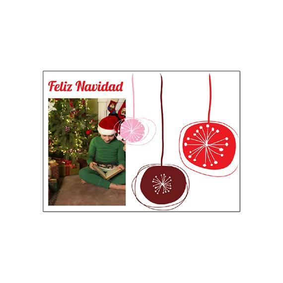 Postal Adornos Navidad