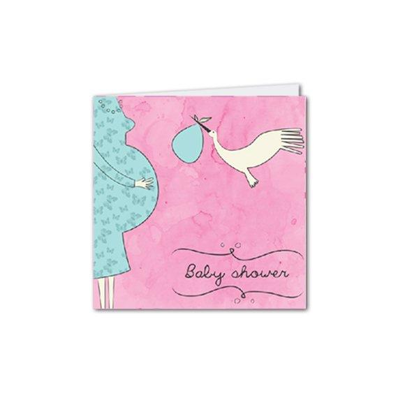 Díptica C. Baby Shower Rosado
