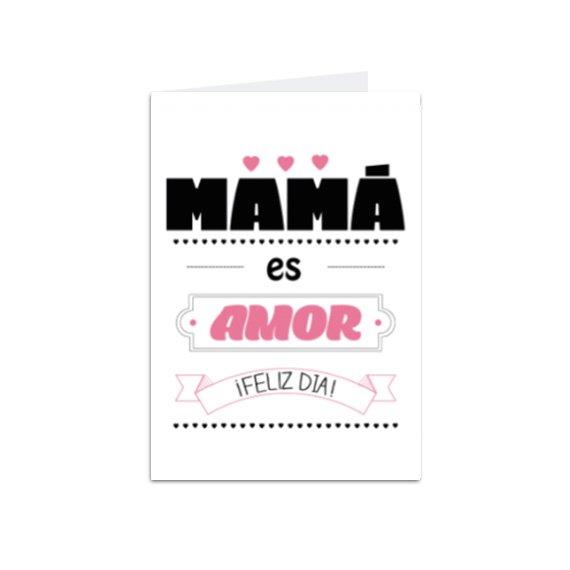 Tarjeta Vertical Mamá Amor
