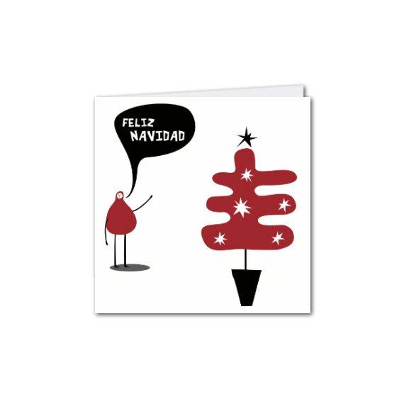 Díptica C. Navidad Árbol Rojo