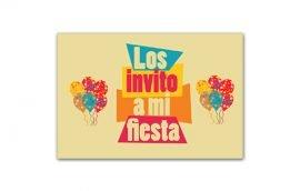 Invitación Globos (15 unidades)