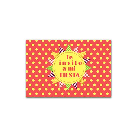 Invitación Lunares Amarillos