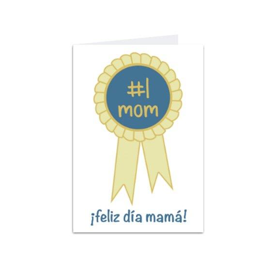 Tarjeta Vertical Mamá N#1