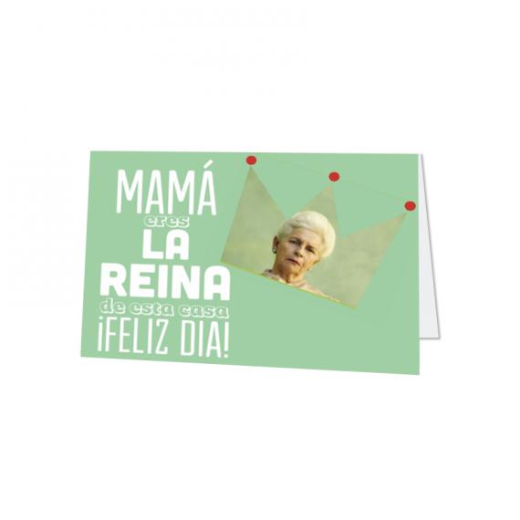 Tarjeta Horizontal Mamá Reina