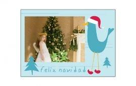 Postal Pájaro Navidad