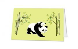 Tarjeta Díptica Panda Horizontal (10 unidades)