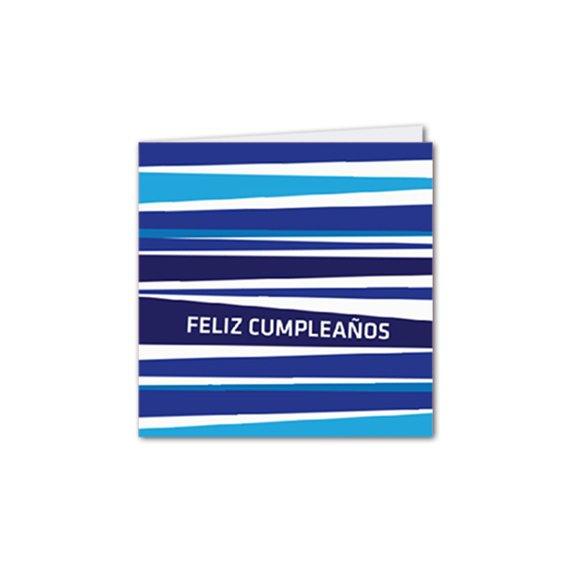 Díptica C. Cumpleaños Rayas Azul