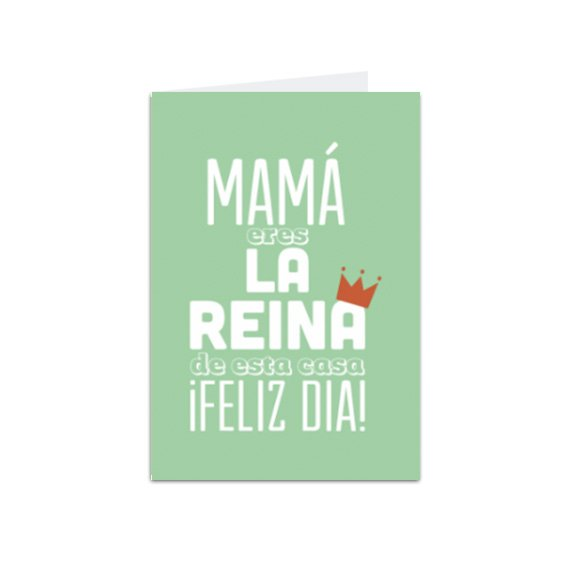 Tarjeta Vertical Mamá Reina