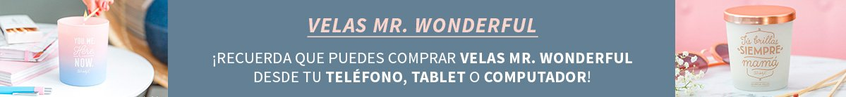 Mr. Wonderful »  Velas Mr. Wonderful